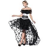 FeelinGirl Damen Korsagekleid Steampunk Gothic Kostüm Magic Mistress...