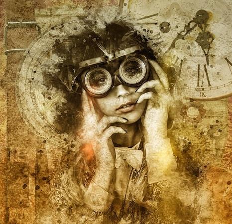 Steampunk Style Frau